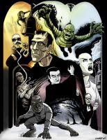 UNIVERSAL MONSTERS print by DadaHyena