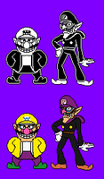 Wario and Waluigi (for my own AU) Updated by WarchieUnited