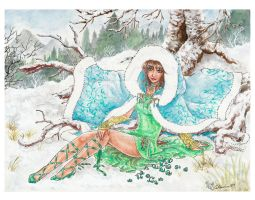 Courage of Snowdrops by Valendra