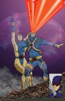 Cyclops and Jean Grey by danecypel