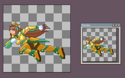 Lunette Reploid dash animation WIP by Meeche-Max