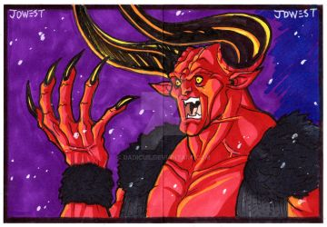 THE LORD OF DARKNESS Sketch cards by dadicus