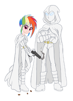 Moon Knight and Rainbow Knight by edCOM02