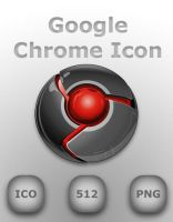 Google Chrome Icon Red by GreasyBacon
