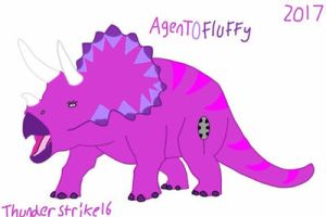 Agent0Fluffy Triceratops by ThunderStrike16