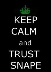 Keep Calm and Trust Snape by deylyn