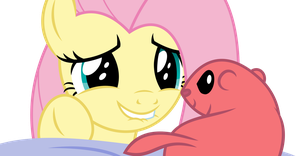 Fluttershy And Prairie dog by twls7551