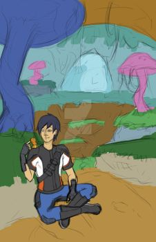 SlugTerra Fan Art: Relaxing Scenery WIP by DREAMSOFASINGER