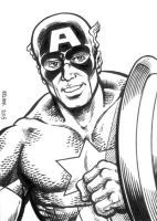Sketch Card: Captain America by dalgoda7
