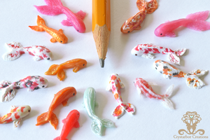 New tiny Polymer Clay Fish by Crystarbor