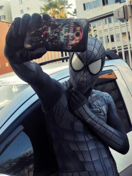 Into The Spider-Verse - Armored Spider Selfie! by DashingTonyDrake