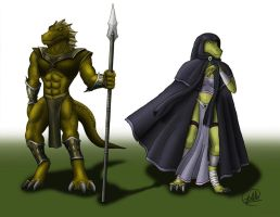 Lizard tribe The Lathias by SymbolHero