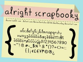 Alright Scrapbooky by deathmunkey