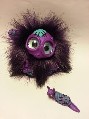 Polymer Clay Troll - Patches w her Snail by Orang3Marmalade