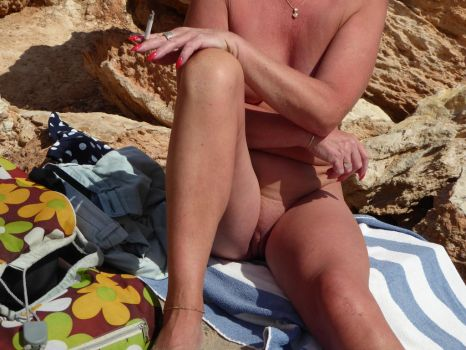 Nude on the Beach by hoodley