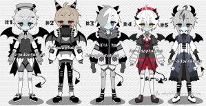 Zombie demon adoptable batch open by AS-Adoptables