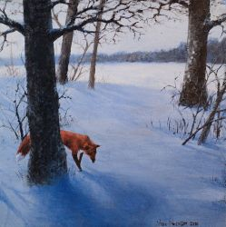 Winter of a Fox by Vablo