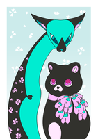 Two Cats by nya-nannu