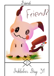 Inktober Day 31: Friend by Steve-the-Lucario