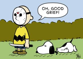Friday the 13th Charlie Brown by TR1Byron