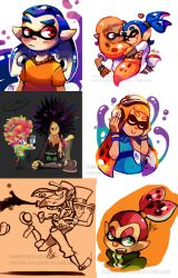 Splatoon Art Dump01 by TamarinFrog