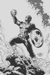 Captain America: Civil War (Inking) by aka-EX