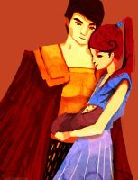 Hector and Andromache by mkce