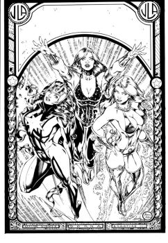 JLA 42 Inked Cover by Mariah-Benes