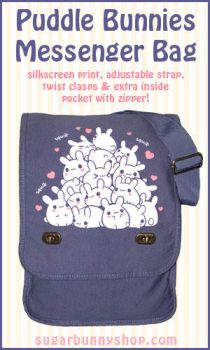 Puddle Bunnies Messenger Bag by celesse