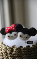 Needle Felted Romantic Mice by FluffyParcel