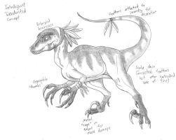 Intelligent Troodontid Concept by TyrannoNinja