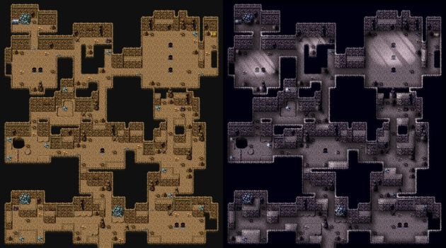RPG Maker VX - MTEVX - Gunthurhoehle Lightmap by TheMelekTaus