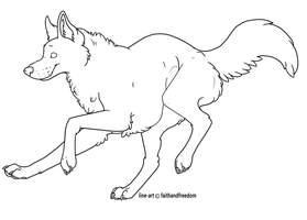 FREE wolf line art by faithandfreedom