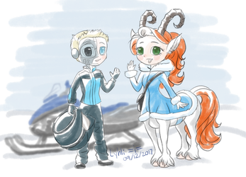 Snow Buddies by LyhliTheLuminescent