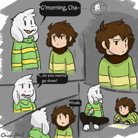 Chara and Asriel by ChicoryBlast