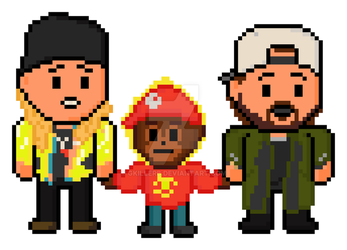 Pixel Jay and Silent Bob Strike Back (and Suzanne) by gkillerb