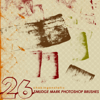smudge mark brushes by chokingonstatic