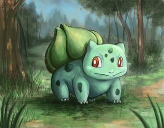 #1  Bulbasaur by marinasanc