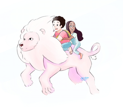 Lion Steven and Connie by XieSpace