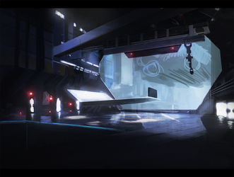 Sci fi base concept art by peppoW
