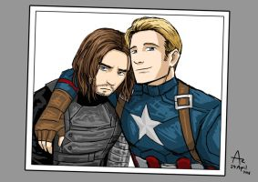 Steve and Bucky by Fandias