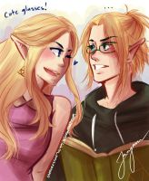 Cute glasses, Link! by Sapphirestone91099