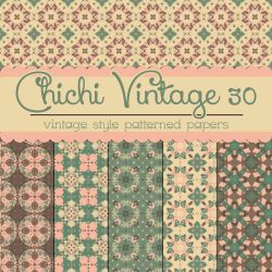 Free Chichi Vintage 30 Patterned Papers by TeacherYanie