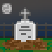 Pixel Art Grave by Megalomaniacaly