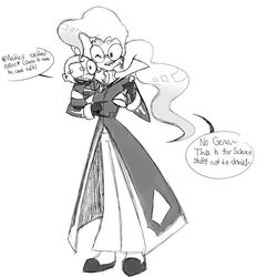 IZ HC Nu-Clear and her son Geno doodle by Glitched-Irken