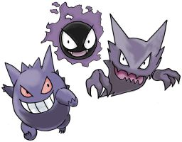 The Gengar Family by sicklequill8384