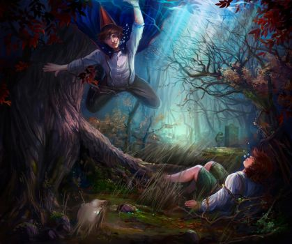Over the garden wall by Lvina