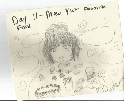 Day11- Draw Your favorite food. by StrawberryAngelic
