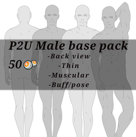 P2U Male base pack by DanteKizu