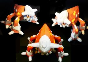 Heatran Papercraft